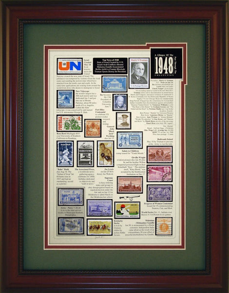 Year 1948 - Unique Framed Gift