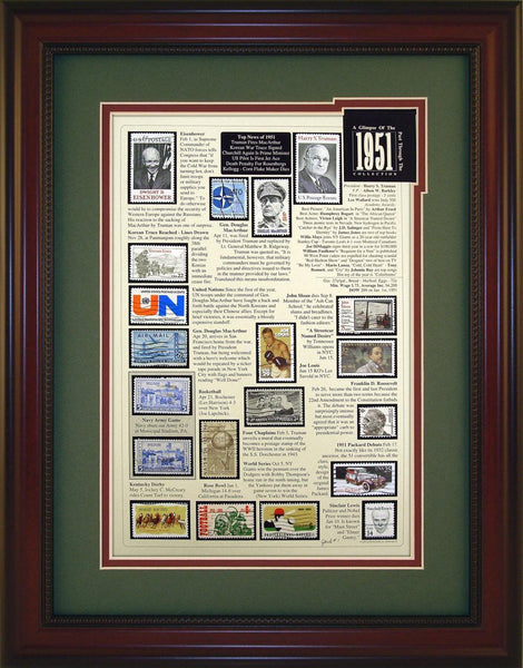 Year 1951 - Unique Framed Gift
