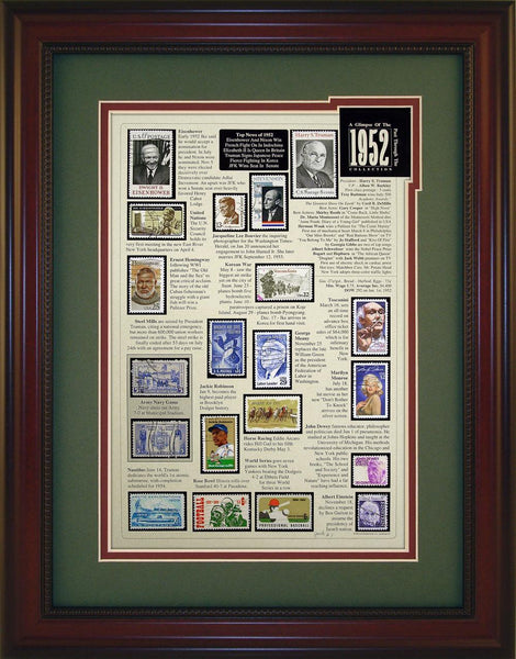 Year 1952 - Unique Framed Gift