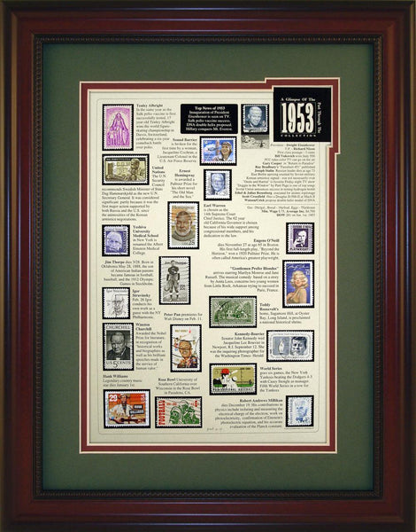 Year 1953 - Unique Framed Gift