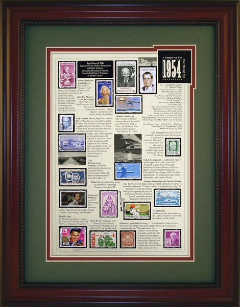 Year 1954 - Unique Framed Gift