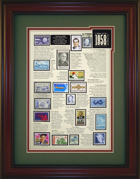 Year 1958 - Unique Framed Gift
