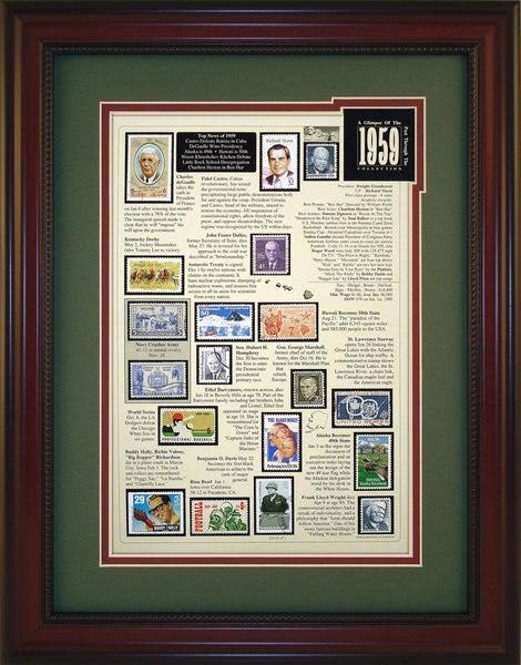Year 1959 - Unique Framed Gift
