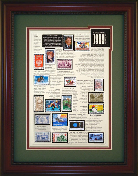 Year 1989 - Unique Framed Gift