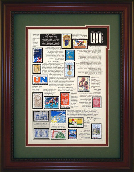 Year 1990 - Unique Framed Gift