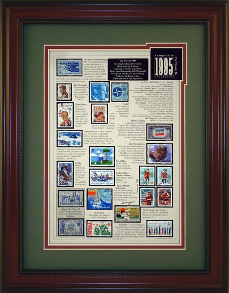 Year 1995 - Unique Framed Gift