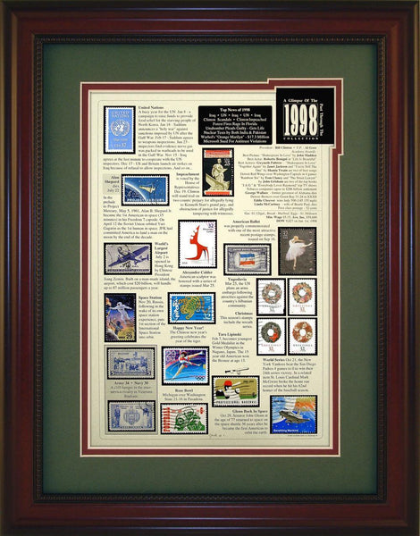 Year 1998 - Unique Framed Gift