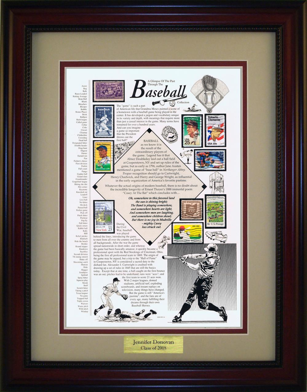 Baseball - Personalized Unique Framed Gift