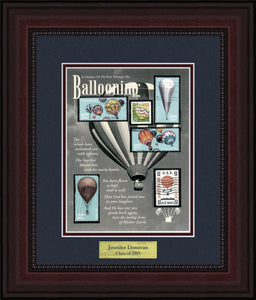 Ballooning - Personalized Unique Framed Gift