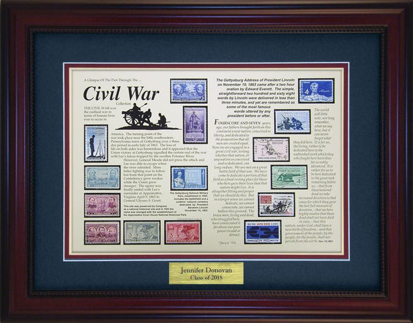 Civil War - Personalized Unique Framed Gift
