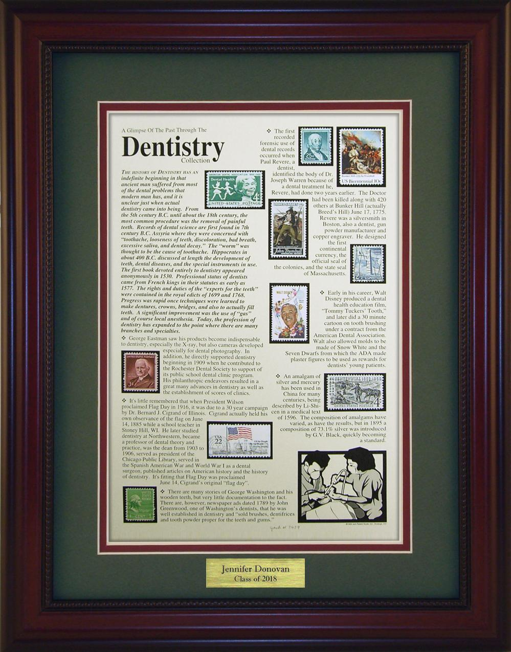Dentistry  - Personalized Unique Framed Gift