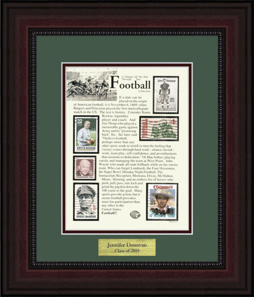 Football - Personalized Unique Framed Gift