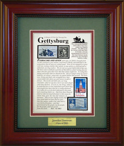 Gettysburg - Personalized Unique Framed Gift