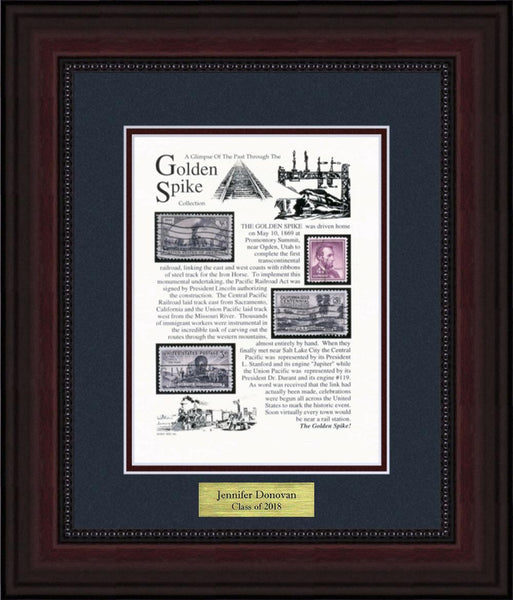 Golden Spike  - Personalized Unique Framed Gift