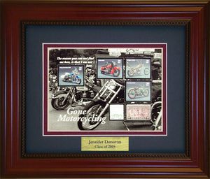Motor Cycling - Personalized Unique Framed Gift