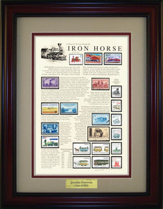Iron Horse  - Personalized Unique Framed Gift