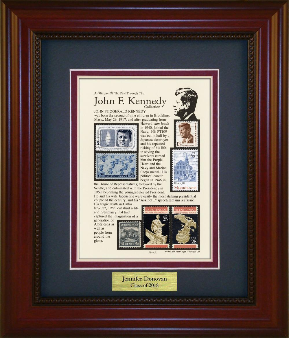 John F. Kennedy  - Personalized Unique Framed Gift