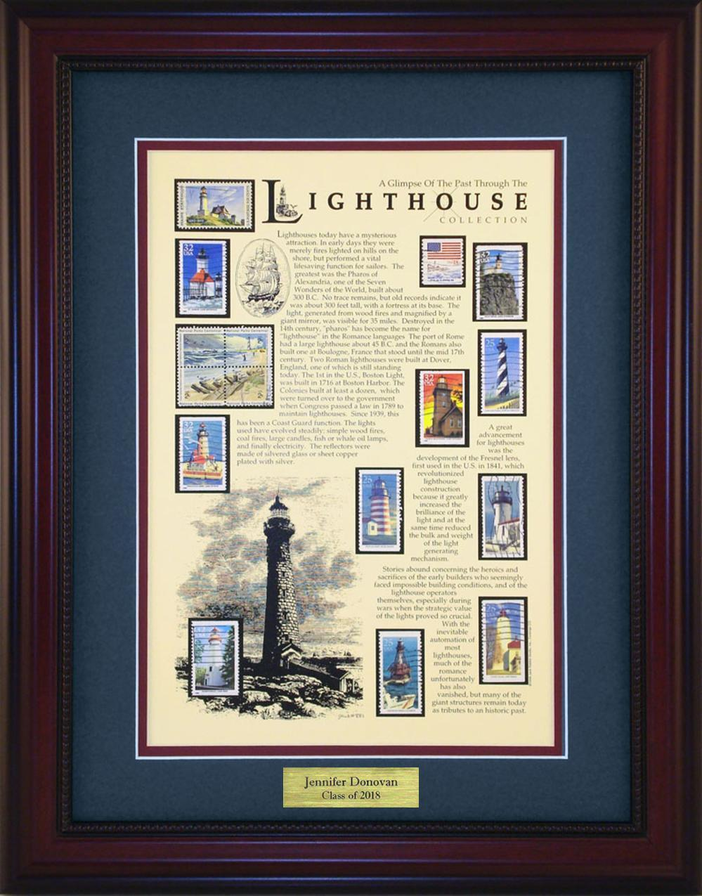 Lighthouse - Personalized Unique Framed Gift