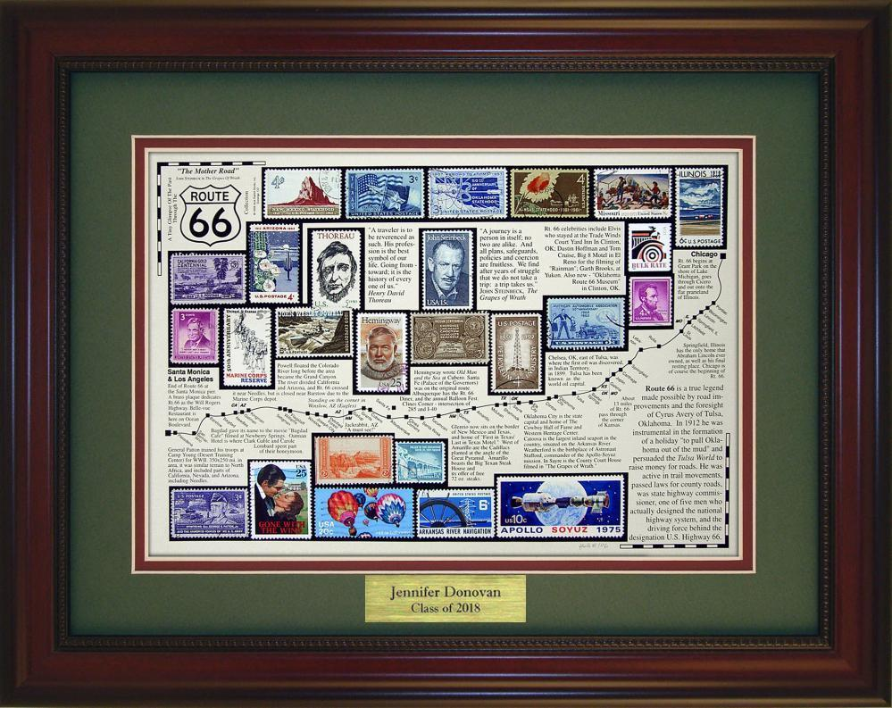 Route 66 - Personalized Unique Framed Gift