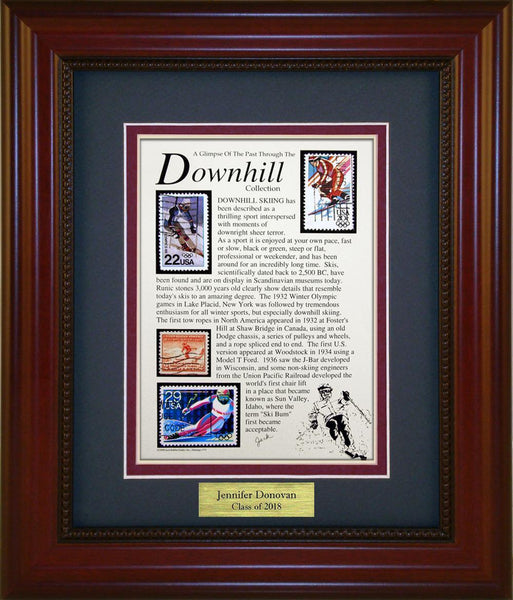 Downhill - Personalized Unique Framed Gift