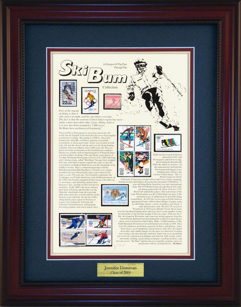 Ski Bum (Downhill) - Personalized Unique Framed Gift
