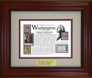George Washington - Personalized Unique Framed Gift