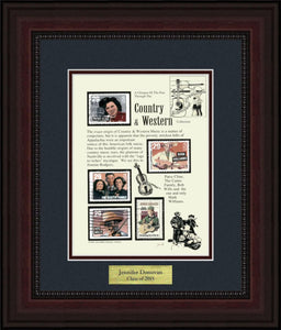 Country Western Music - Personalized Unique Framed Gift