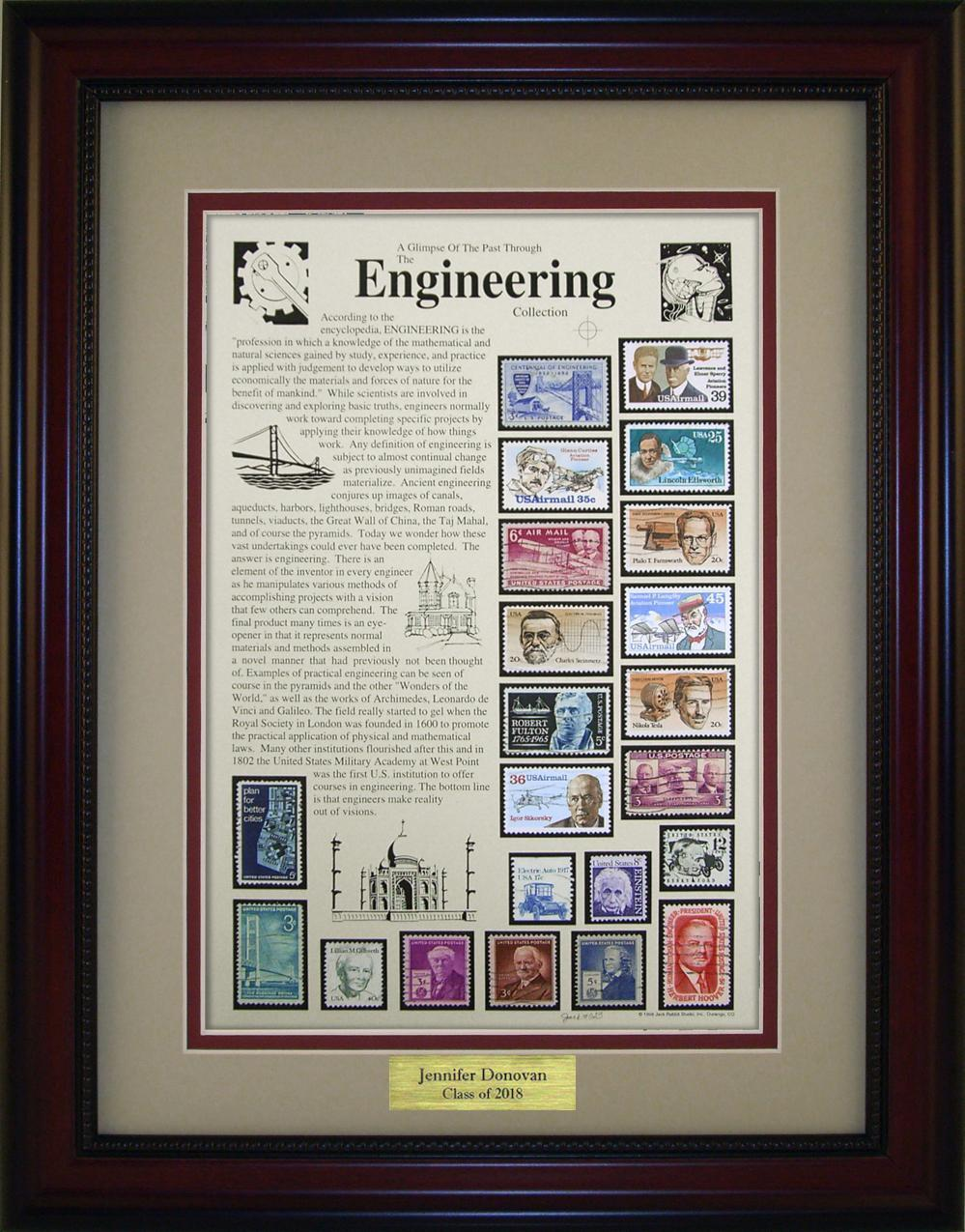 Engineering  - Personalized Unique Framed Gift