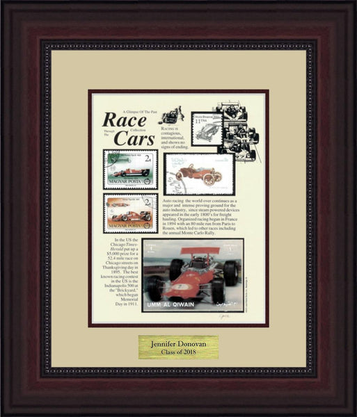 Race Cars - Personalized Unique Framed Gift