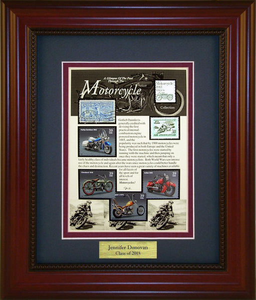 Motorcycle - Personalized Unique Framed Gift