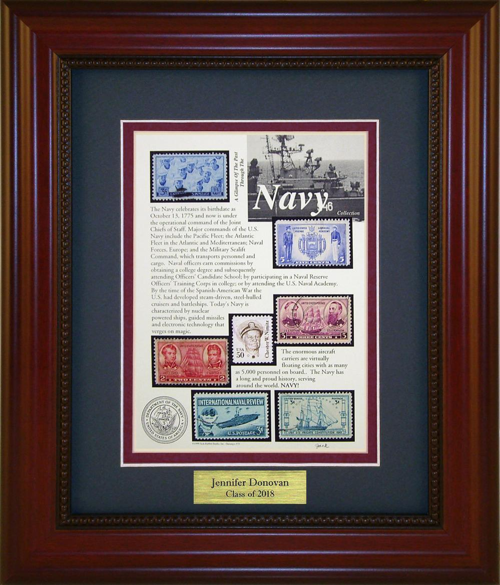 Navy - Personalized Unique Framed Gift
