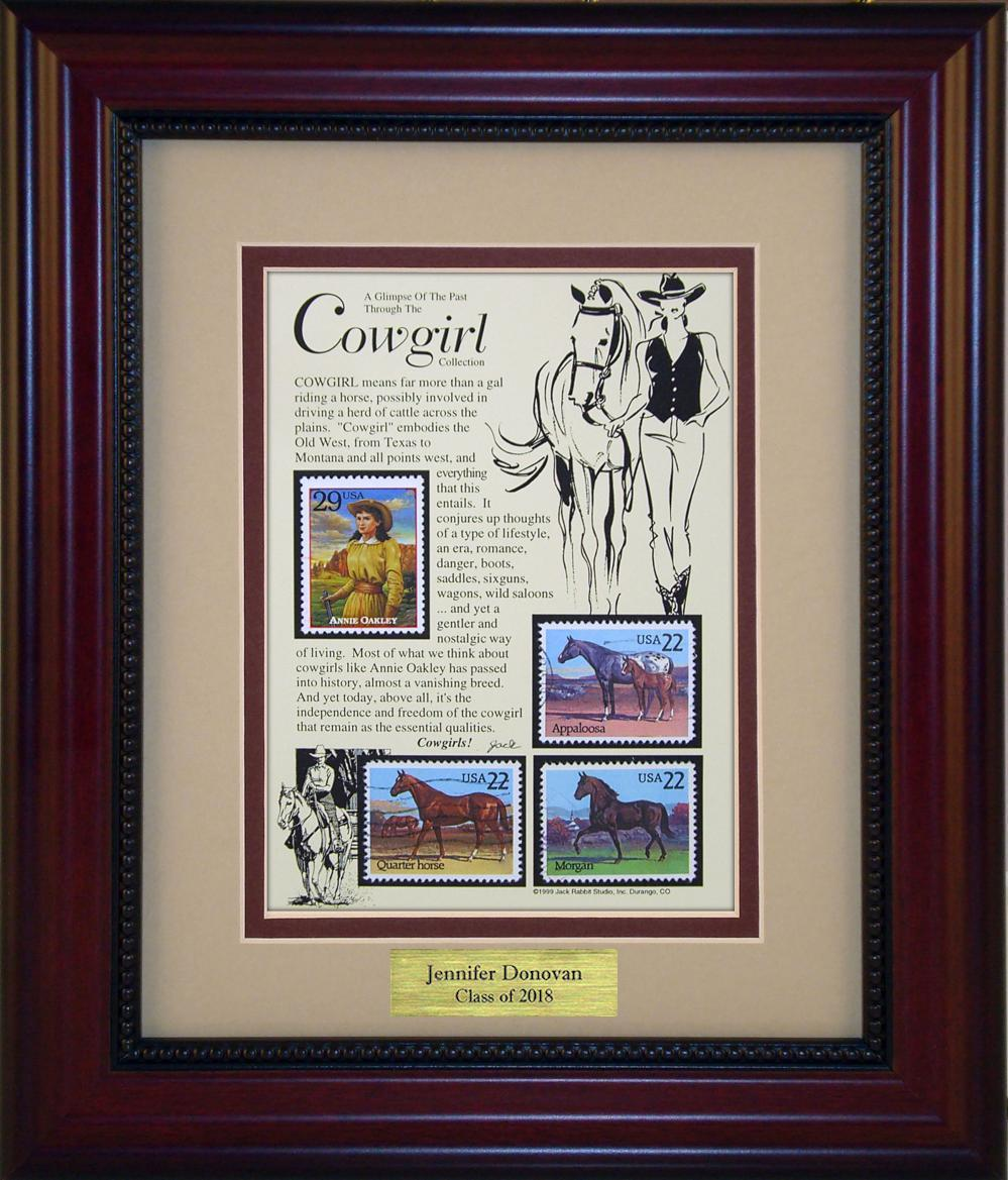 Cowgirl - Personalized Unique Framed Gift