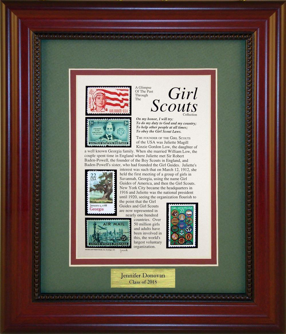 Girl Scouts - Personalized Unique Framed Gift