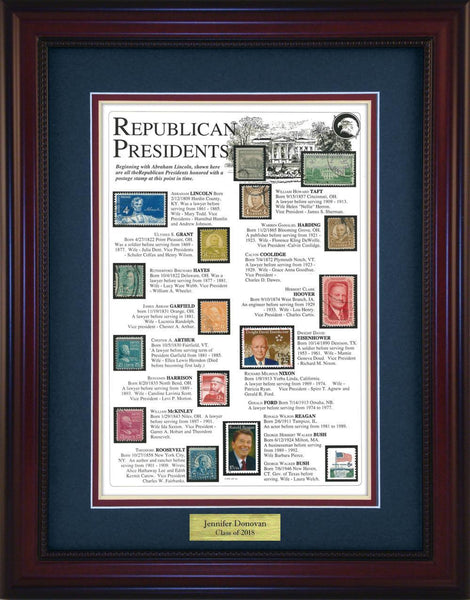 Republican Presidents - Personalized Unique Framed Gift
