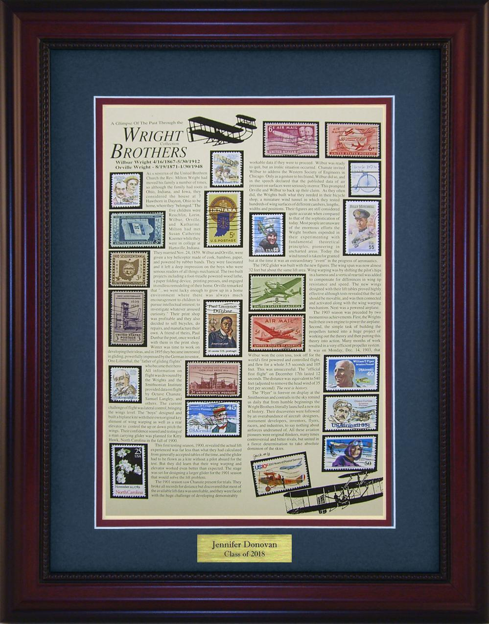 Wright Brothers - Personalized Unique Framed Gift