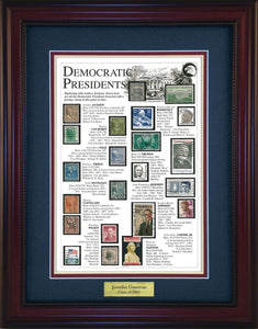 Democratic Presidents - Personalized Unique Framed Gift