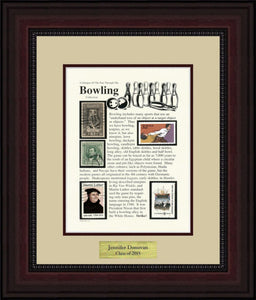 Bowling - Personalized Unique Framed Gift