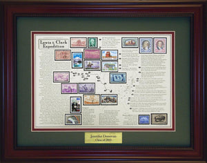 Lewis & Clark - Personalized Unique Framed Gift
