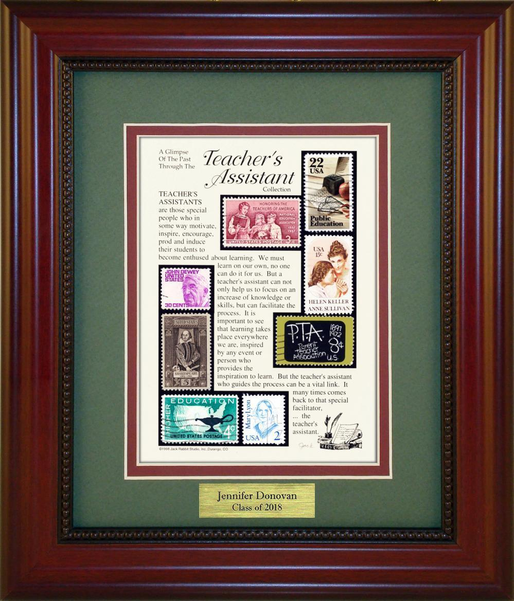 Teacher's Assistant - Personalized Unique Framed Gift