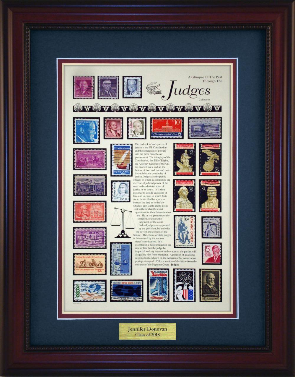 Judges - Personalized Unique Framed Gift