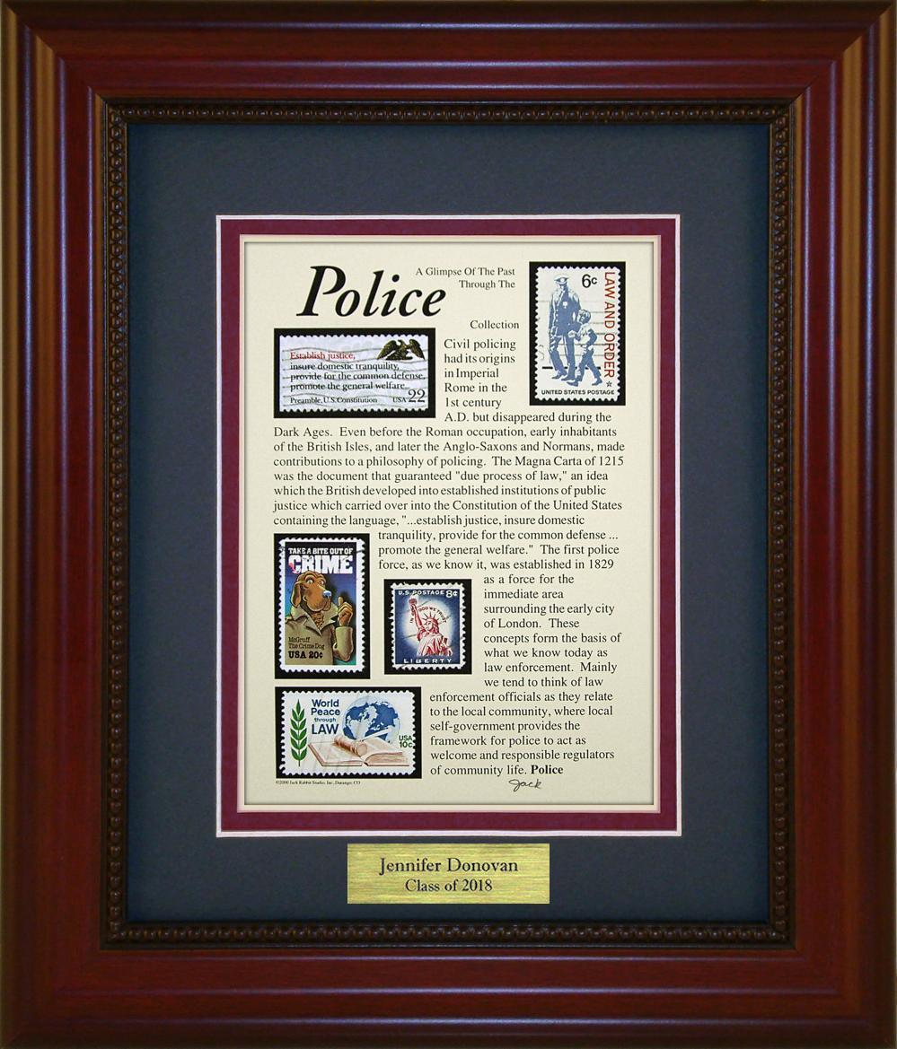 Police - Personalized Unique Framed Gift