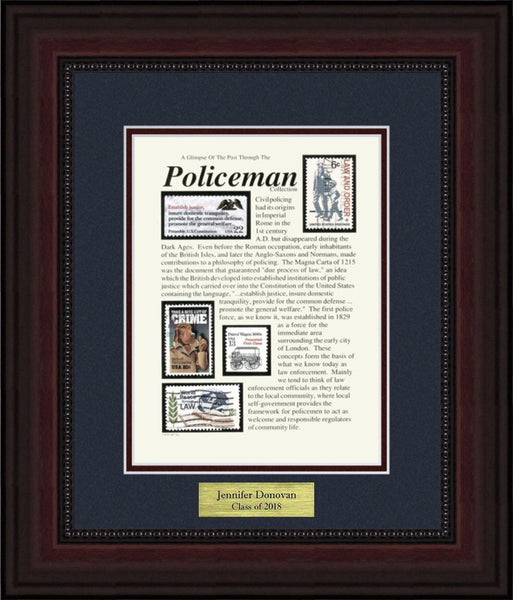 Policeman - Personalized Unique Framed Gift
