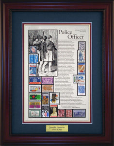 Police Officer - Personalized Unique Framed Gift