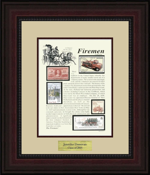 Fireman - Personalized Unique Framed Gift