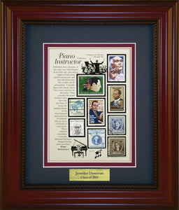 Piano Instructor - Personalized Unique Framed Gift
