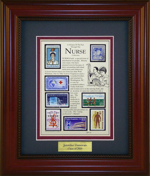 Nurse (Non Gender) - Personalized Unique Framed Gift