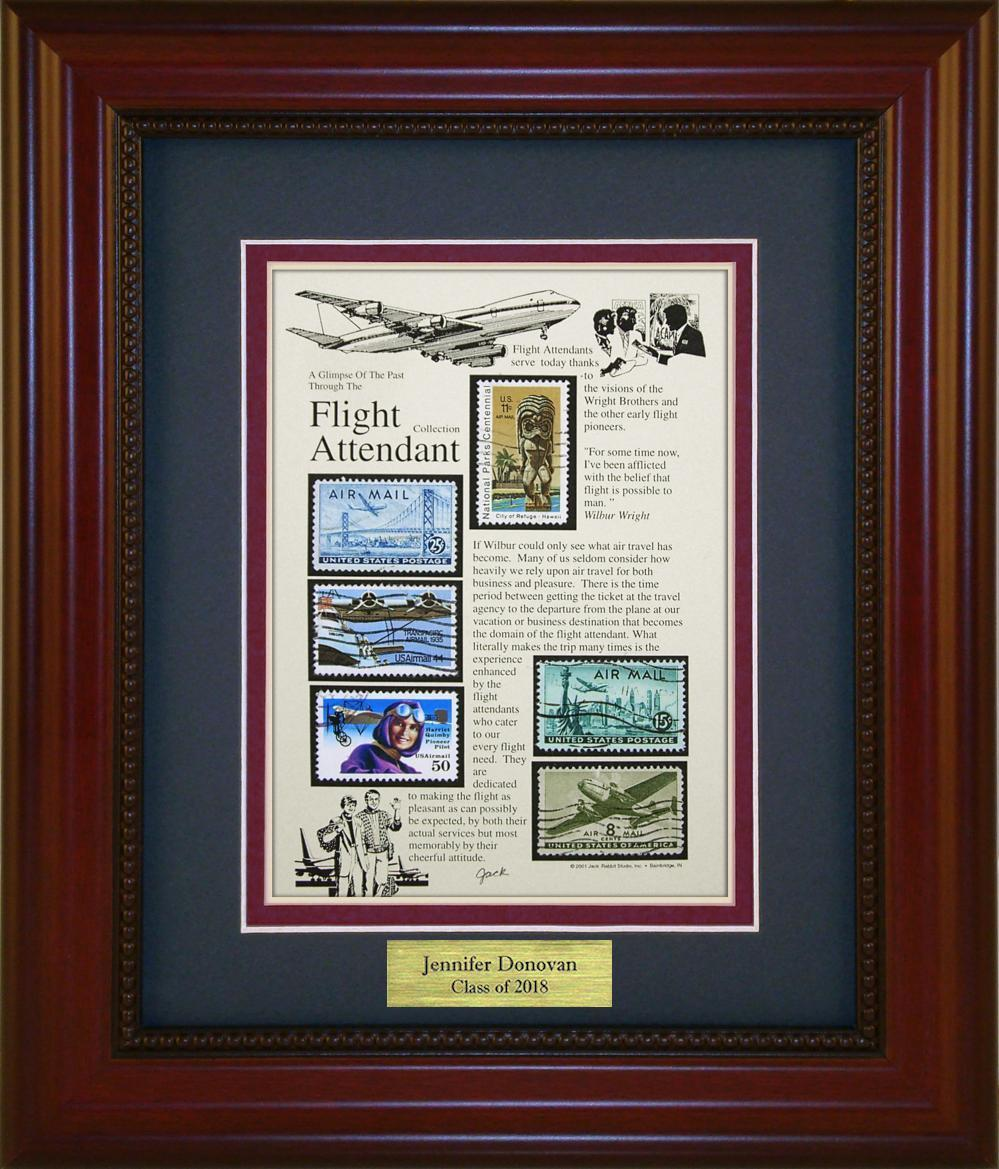 Flight Attendant - Personalized Unique Framed Gift