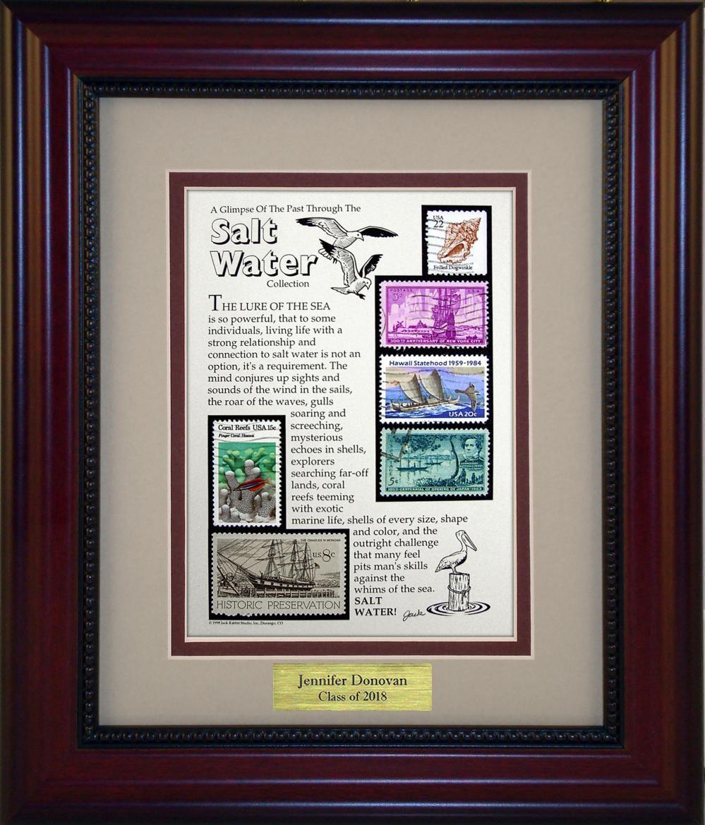 Salt Water Fishing - Personalized Unique Framed Gift