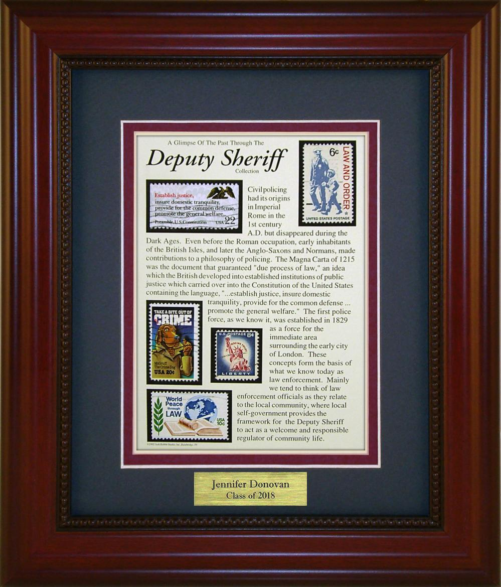 Deputy Sheriff - Personalized Unique Framed Gift