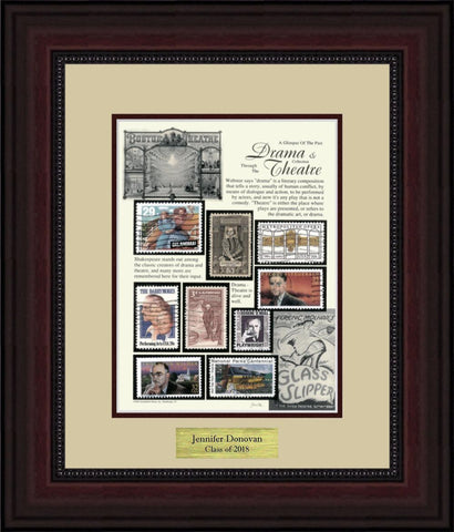 Drama/Theatre - Personalized Unique Framed Gift